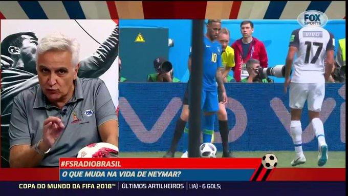 Sormani: Se ele [Neymar] passar a dar ouvidos a quem ele tem que dar ouvidos, a vida dele muda. Se continuar do jeito que tá... O Mbappé engole ele em duas temporadas. #FSRadioBrasil #FOXNaRussia Foto