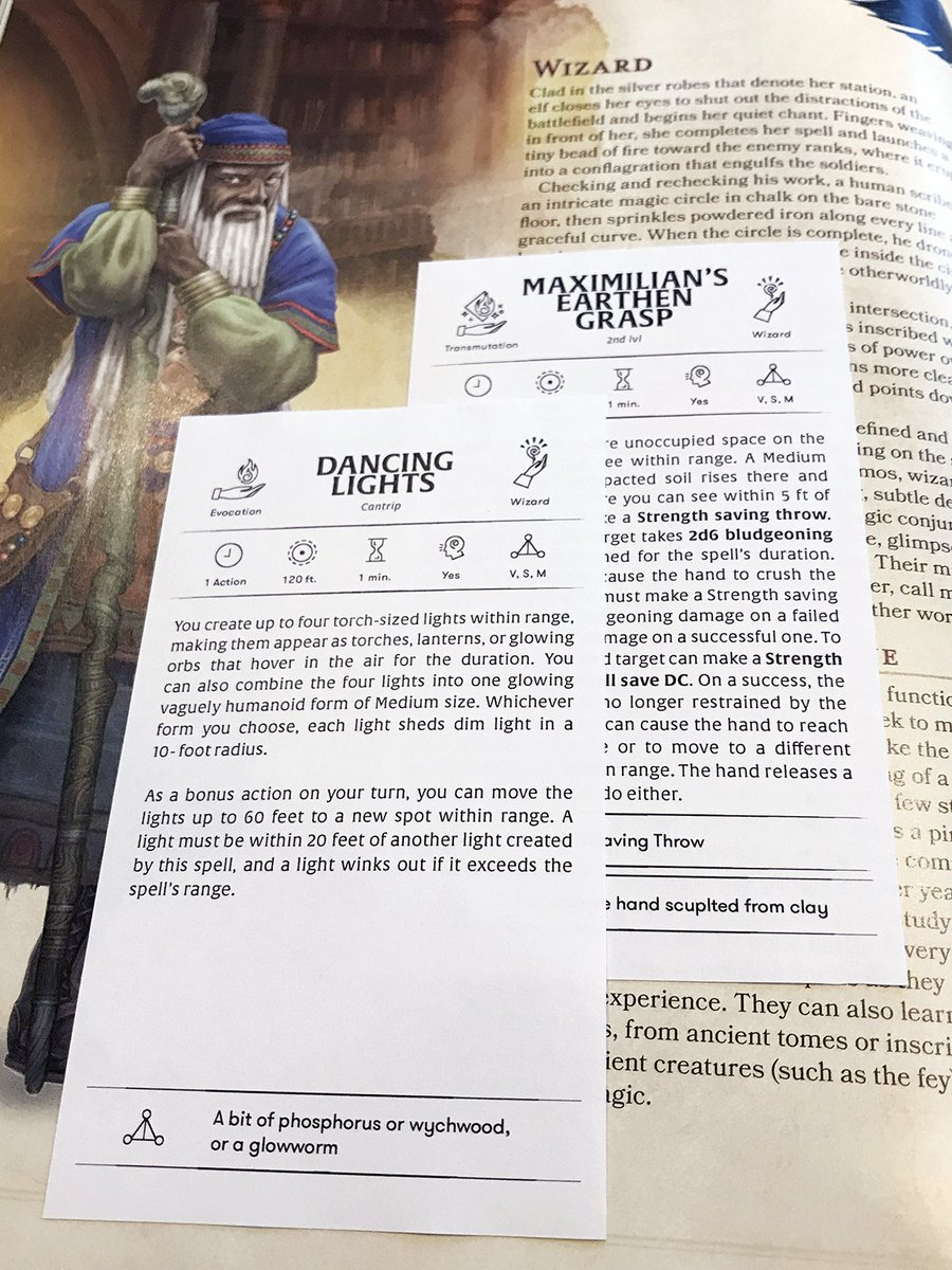 image relating to Dnd 5e Printable Spell Cards known as Carina upon Twitter: \