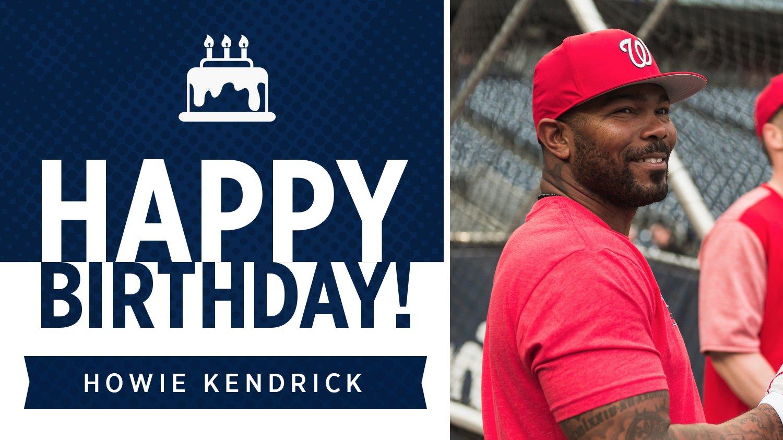 Join us in wishing Howie Kendrick a very happy birthday! https://t.co/oUj1z6l2fV