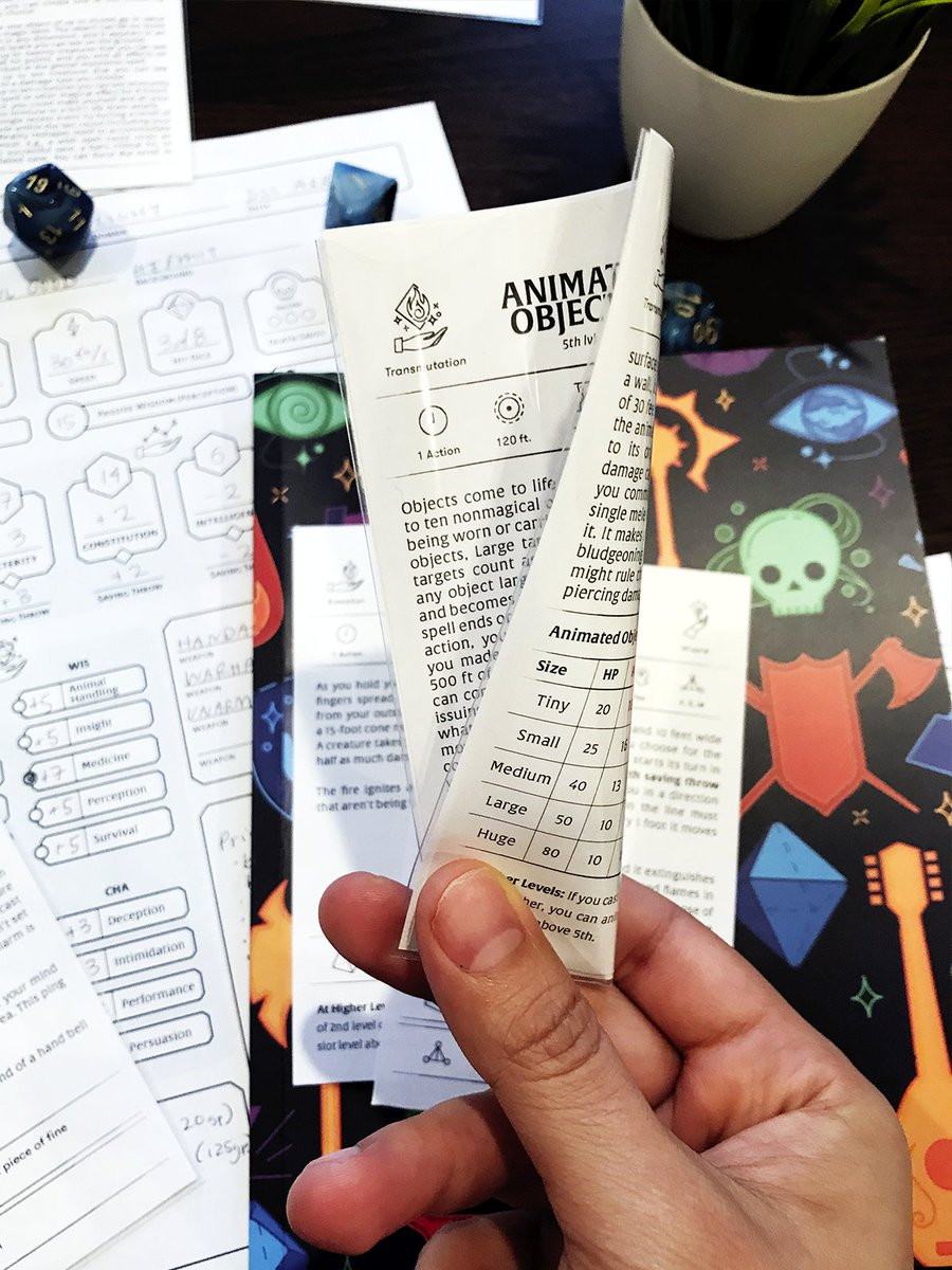 photograph relating to Dnd 5e Printable Spell Cards called Carina upon Twitter: \