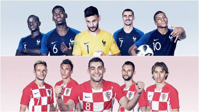 E você, vai torcer pra quem na final: França ou Croácia? 🇫🇷🇭🇷 #FRACRO #Copa2018 Foto