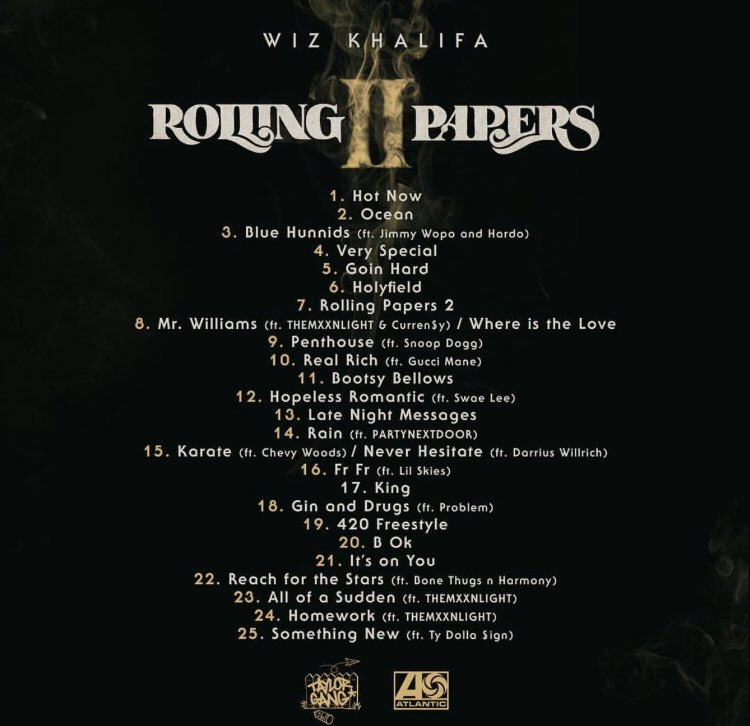 15fd9b2e9b5d Wiz Khalifa shares official tracklist for