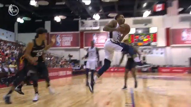 How did Walt Lemon Jr. get that circus shot to fall?! ����  #NBASummer https://t.co/golacw5XH9
