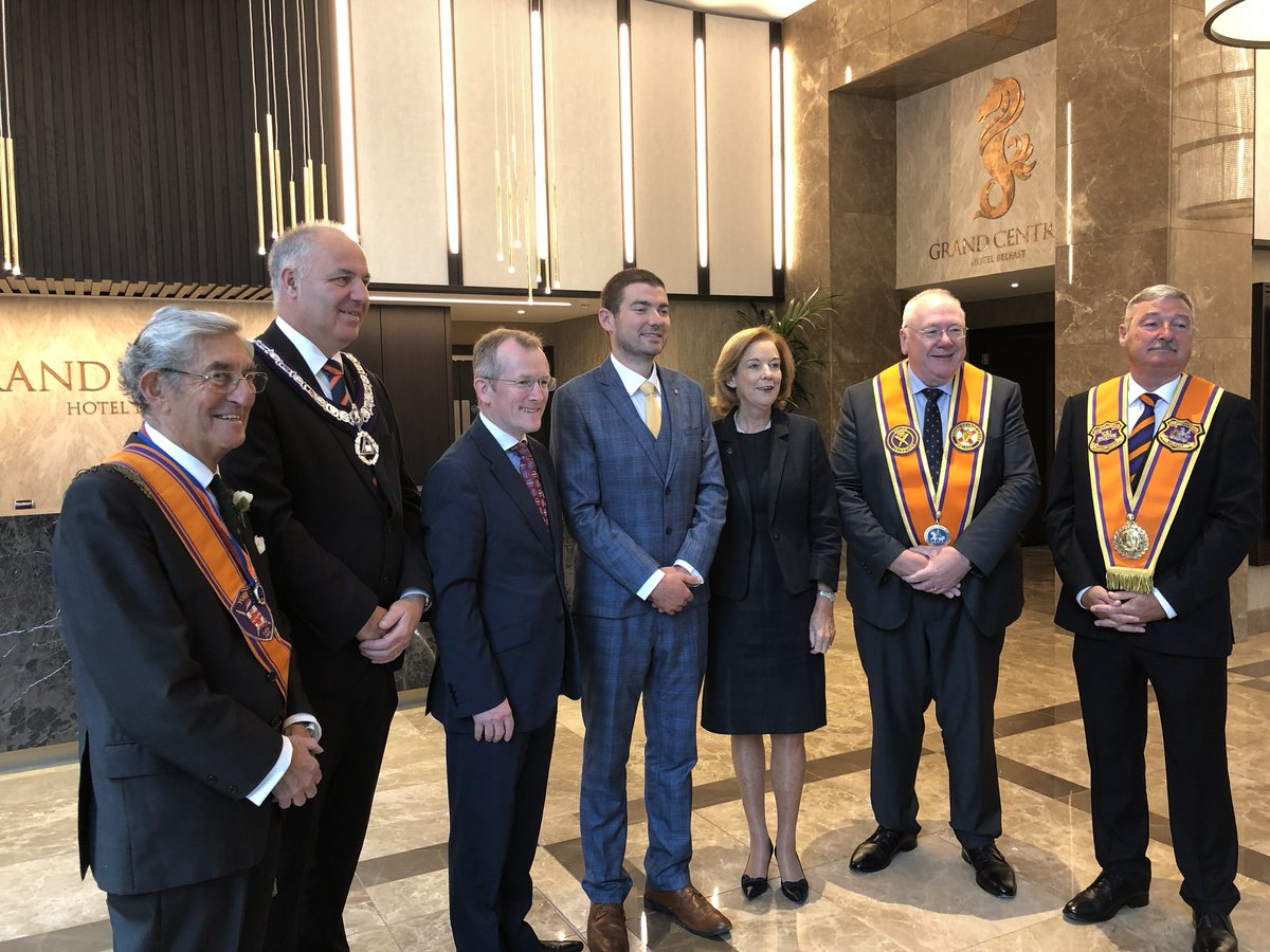 Image result for orange order members meets niall gibbons           tourism ireland