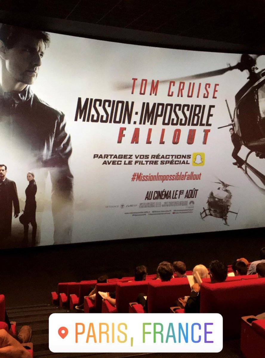 The #MissionImpossible franchise successfully manages to one-up itself each time. Such a gripping ride! @TomCruise makes it his mission for the stunts to look impossible, you'll constantly be holding your breath while sitting on the edge of your seat 😲🤯#MissionImpossibleFalloutFallout