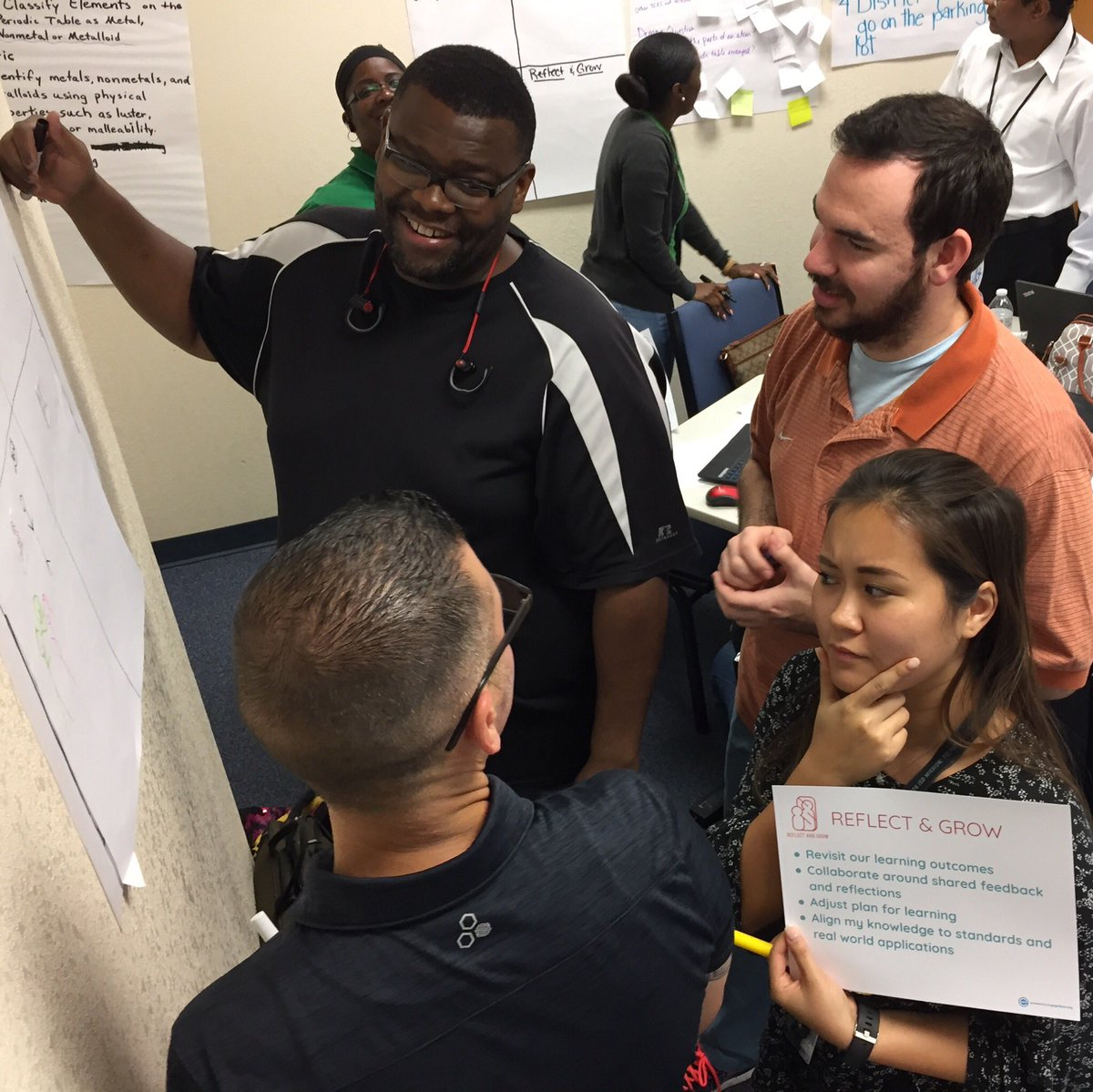 """""""Math Radicals"""" team Reflecting & Growing while getting ready for our #engage2learn #FWISDlearning gallery walk! @engage_learning @FWISDCurriculum #WalkWithPurpose #AddSomeSwagger"""