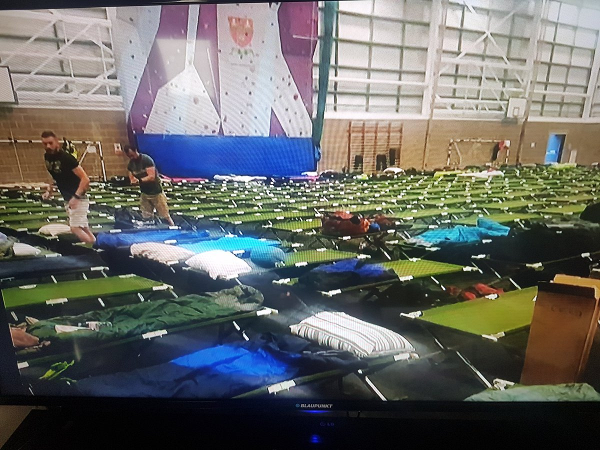 police camp beds.