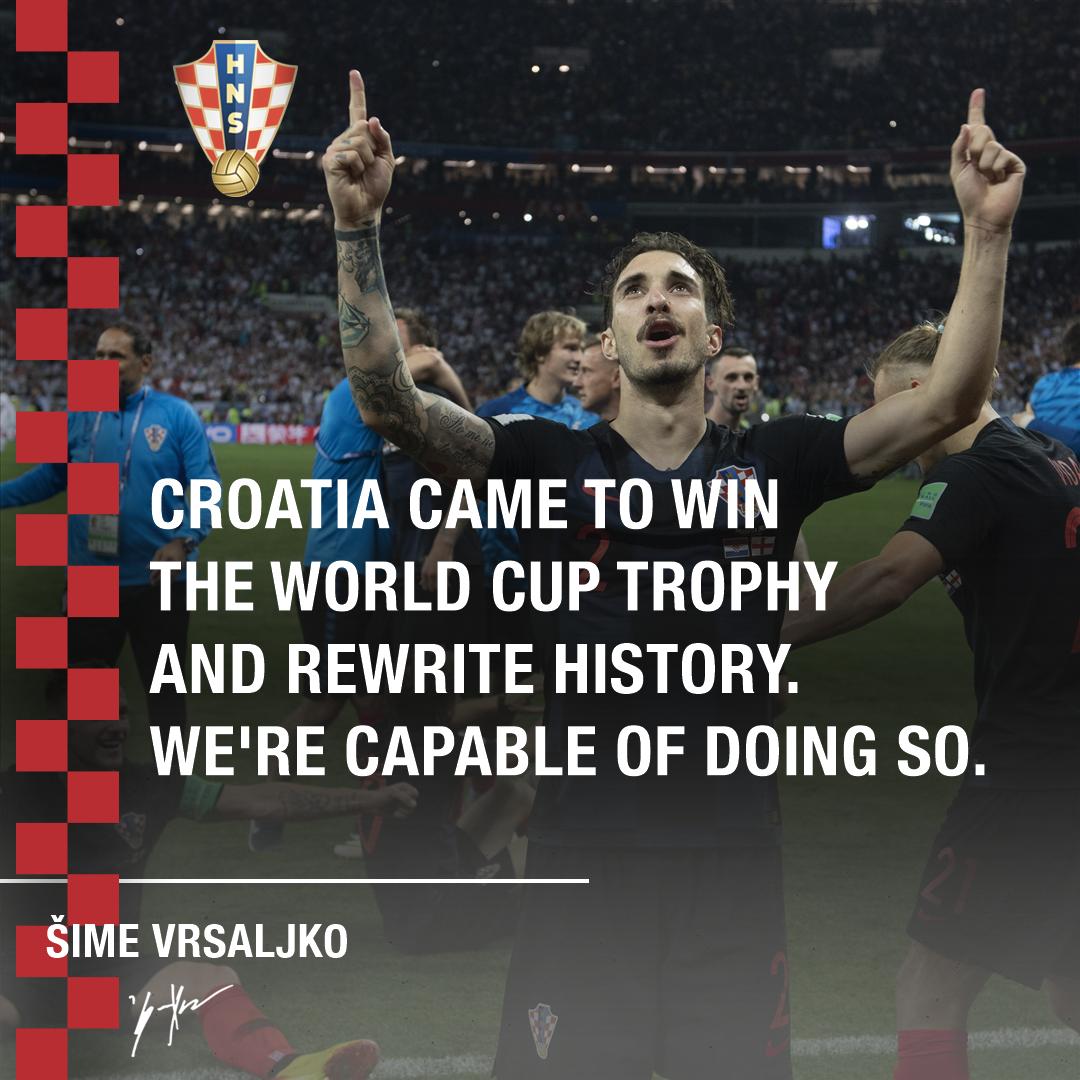 1⃣ match to go. #CRO #FRA #WorldCupFinal #Vatreni🔥