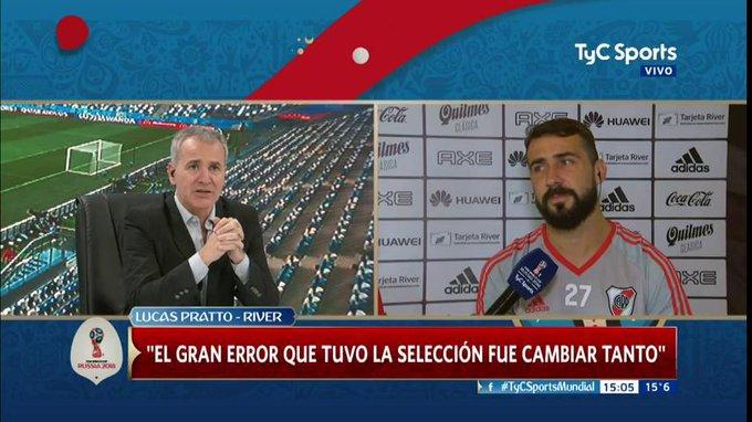 Lucas Pratto, a solas con #TyCSportsMundial: El gran error que tuvo la Selección fue cambiar tanto Foto