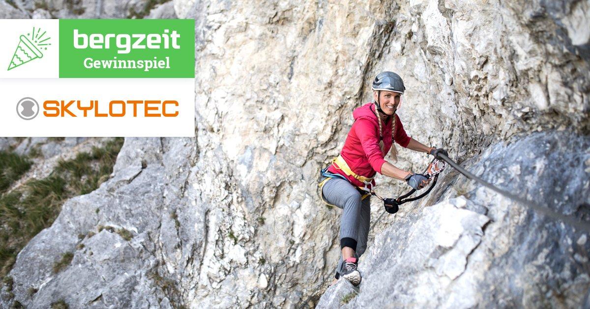 Klettersteigset Bergzeit : Der drachenwand klettersteig am mondsee bergzeit magazin