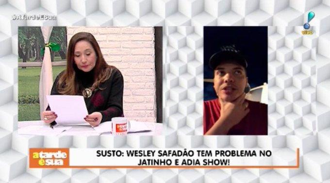 Wesley Safadão passa susto com problema em seu jatinho e adia show! 😯 #ATardeESua Foto