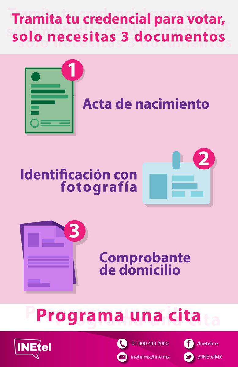 Inetelmx على تويتر Tramita Tu Credencial Para Votar