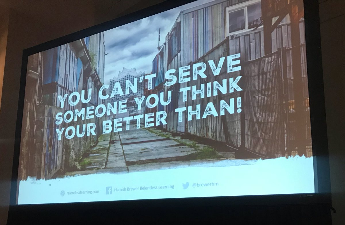 """""""You can't serve someone you think you're better than!"""" -@brewerhm at #NPC18 <br>http://pic.twitter.com/7qBJXYkSLx"""