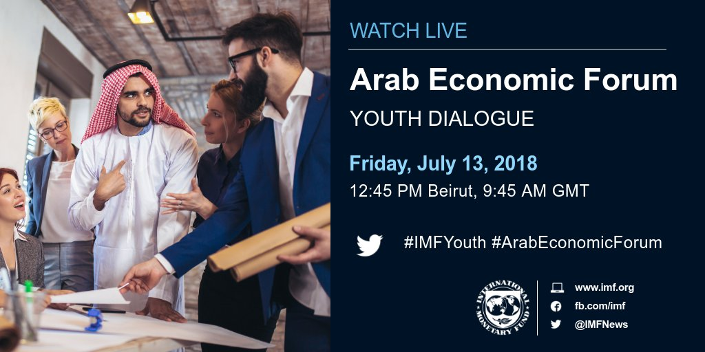 Coming Soon: Watch live webcast of Youth Dialogue: Unlocking the Potential of Arab Youth at #ArabEconomicForum   http:// ow.ly/3FYZ30kTTiB  &nbsp;    #IMFYouth #AEF2018 <br>http://pic.twitter.com/snTXLWIP2S