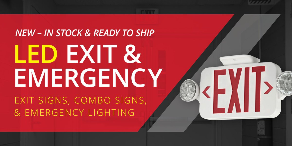 Atlas Lighting On Twitter Led Exit Emergency