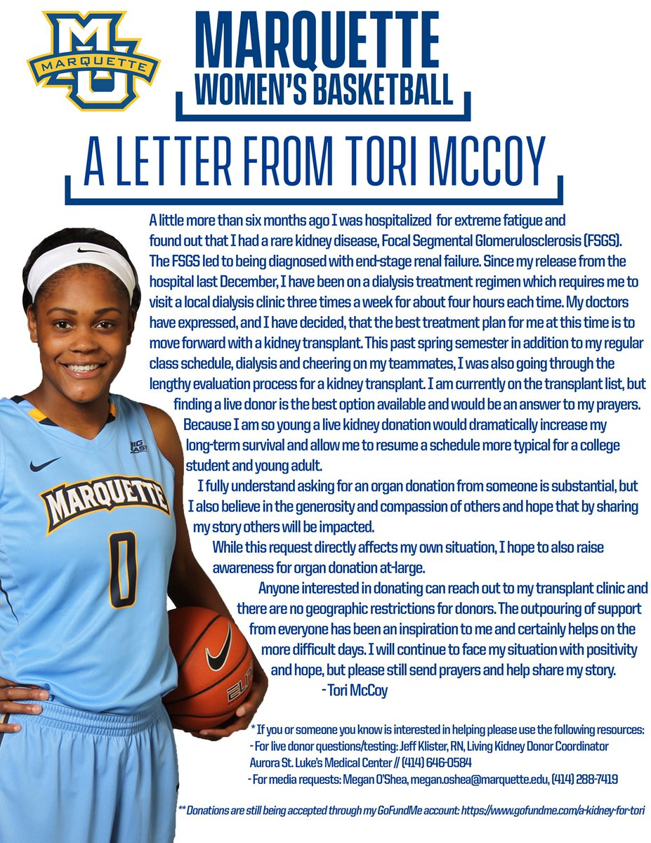 Marquette wbb on twitter please read and share this letter from marquette wbb on twitter please read and share this letter from tori mccoy and help spread the word muwbb wearemarquette thecheapjerseys Images