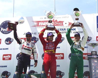 #OnThisDay in 1998 at the Burke Lakefront Airport in Cleveland, Alex Zanardi (Target Chip Ganassi Reynard-Honda 98i) scored his 10th #IndyCar/CART win from Michael Andretti and Dario Franchitti (Photo: Honda) https://t.co/2BU369plOG