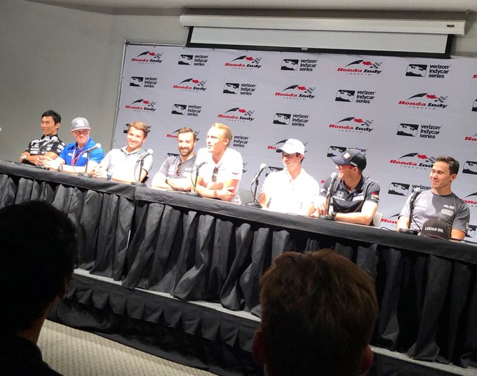 Started off the #IndyTO weekend with the welcome press conference! Photo