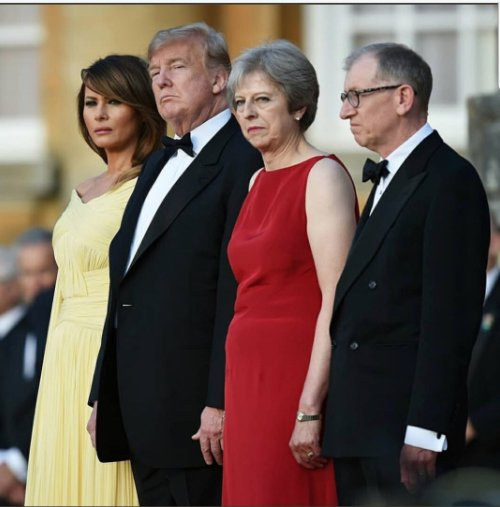 Not sure I've ever seen two political spouses looking less keen to be there.