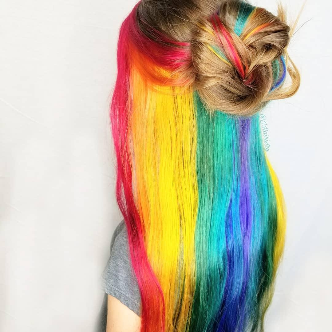 Sally Beauty On Twitter Wow Jhairistrys Rainbow Hair Color