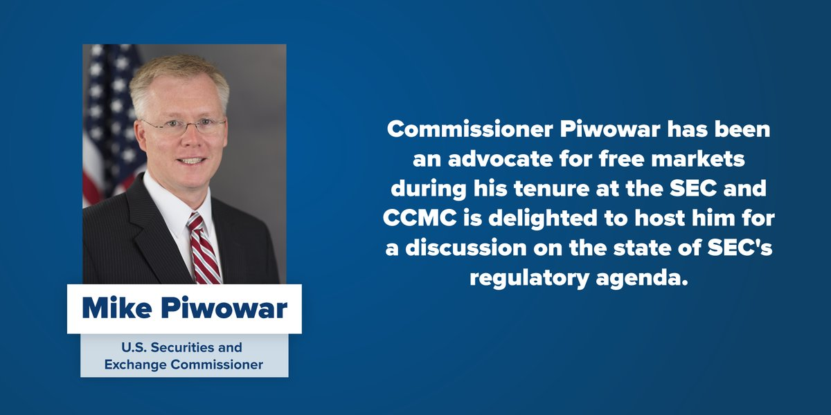 test Twitter Media - ICYMI @USChamberCCMC @USChamber was pleased to host former SEC Commission @MichaelPiwowar for a discussion on the state of SEC's regulatory agenda. If you missed it live you can watch here: https://t.co/Xw5PjO3jmS https://t.co/5hEwOZ6vcD