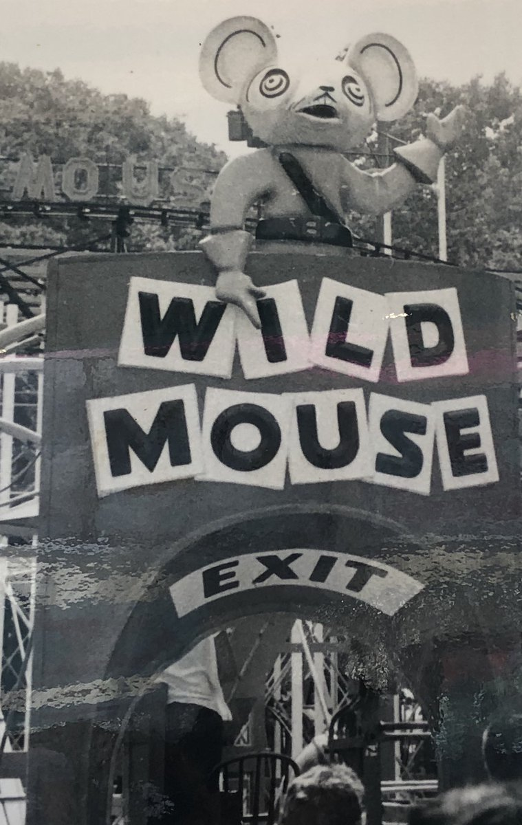 I'm at the amusement park with my kids and they have pictures of some of the rides from days gone by and...🙀🐭
