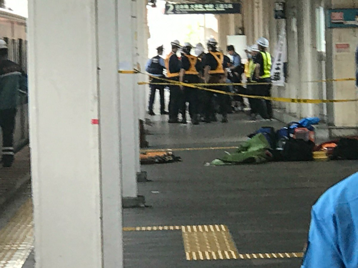東京メトロ東西線の西葛西駅で人身事故の現場画像