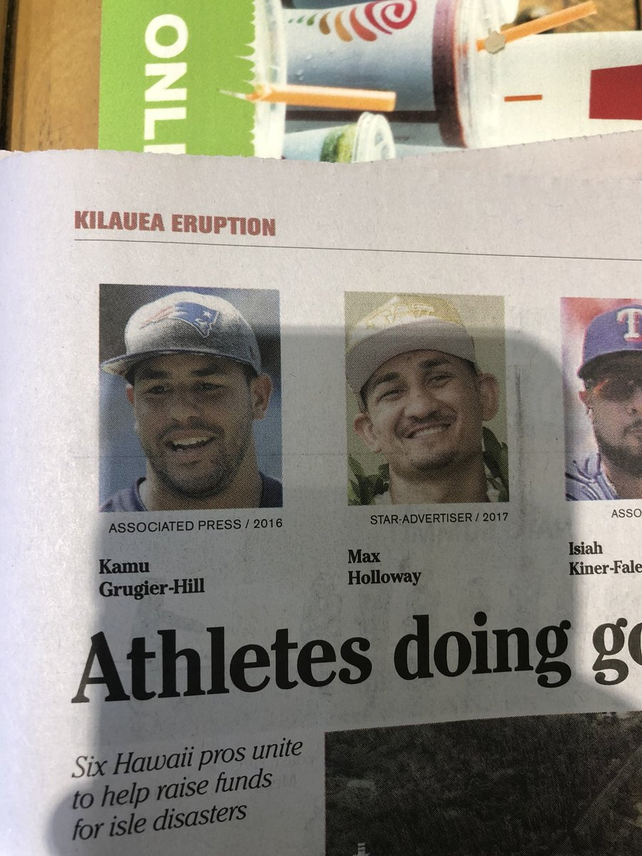 Brah.... I don't play for the patriots...... @StarAdvertiser