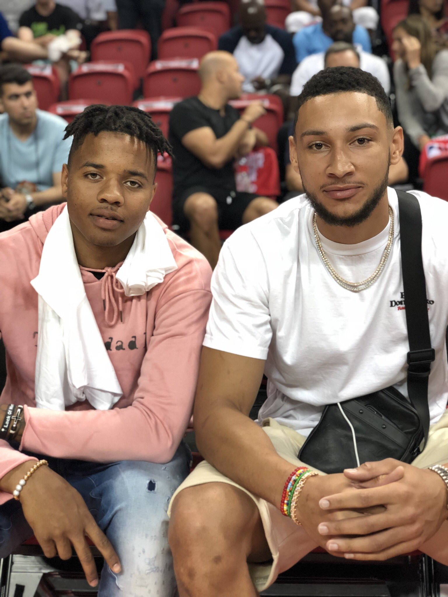 Ready for @sixers #NBASummer action.   @MarkelleF x @BenSimmons25. https://t.co/vhwbNdxmH4