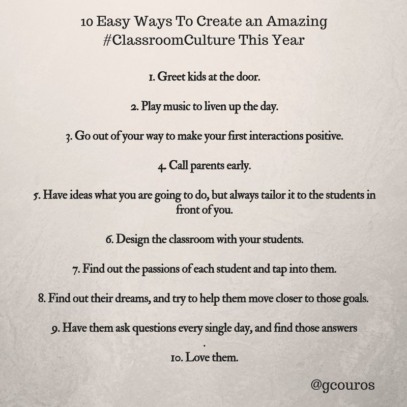 10 Easy Ways to Create an Awesome #SchoolCulture This Year georgecouros.ca/blog/archives/…