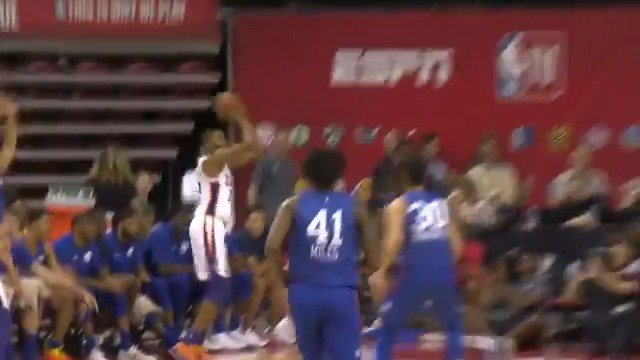 Mikal Bridges gets it done on both ends of the floor! ��  #NBARooks in #NBASummer https://t.co/9opURQ8mHh