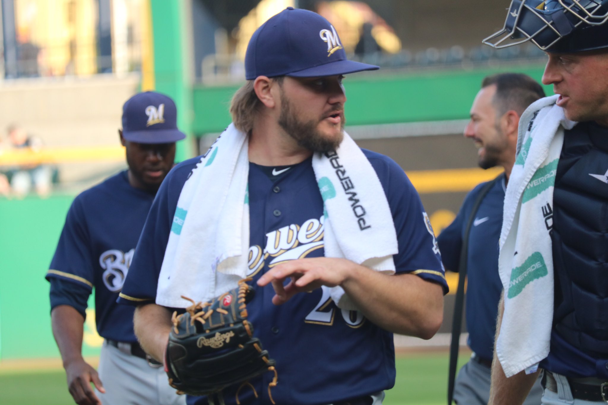 Wade Miley is ready to #PlayBall in his return from the disabled list! #ThisIsMyCrew https://t.co/b4d3LdJ3ih