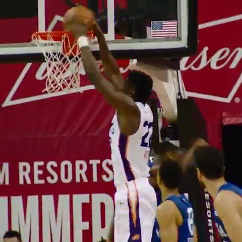 Deandre Ayton flushes it home in #PhantomCam!  #NBARooks in #NBASummer https://t.co/IM3wLguNZB