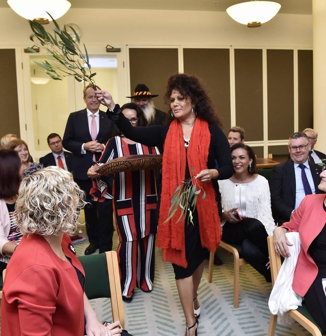 Before serving as a Minister in the NT Government & the Senate, @Malarndirri19 was a Walkey nominated journalist. Malandirri is a storyteller & a trailblazer who continues to drive change & empower young people – particularly young Indigenous women #BecauseOfHerWeCan #NAIDOC2018 Photo