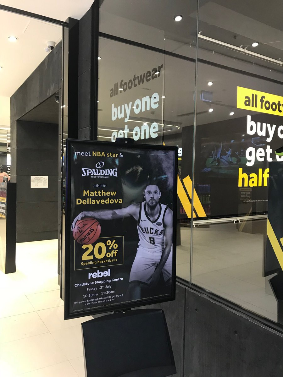 Basketball australia on twitter meet and greet get down to meet and greet get down to rebelsport at the fashioncapital and bring along your spalding ball to get it signed by australian boomer and nba champion m4hsunfo