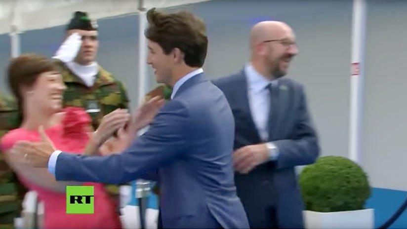 'Días sin avergonzar a Canadá: 0': Trudeau ignora a su homólogo belga para besar a su pareja (VIDEO) https://t.co/azDvOnM4Vf