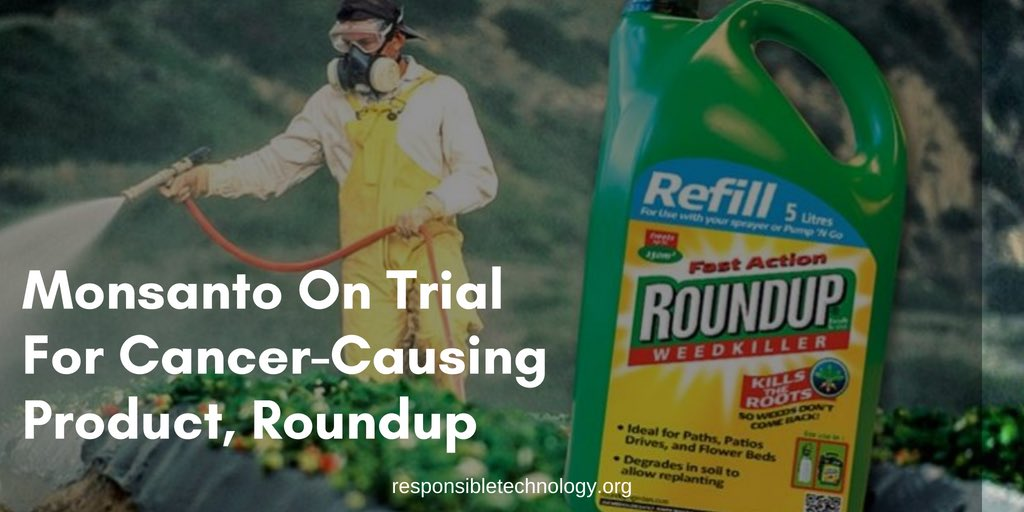 """Billions in revenue could be at stake for Monsanto and its new corporate parent, German chemical giant Bayer, which closed its $60 billion acquisition earlier this month."" Story: https://responsibletechnology.org/monsantos-roundup-weed-killer-goes-on-trial-with-billions-at-stake/ …"