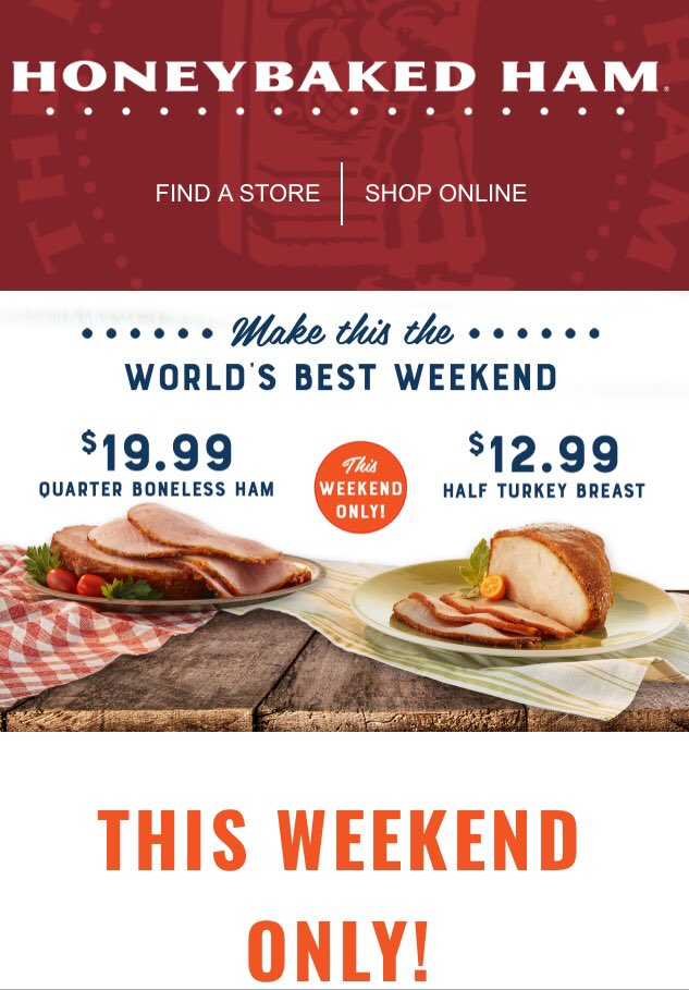 Margaret Early On Twitter Enjoy Ham Turkey From Honeybaked This