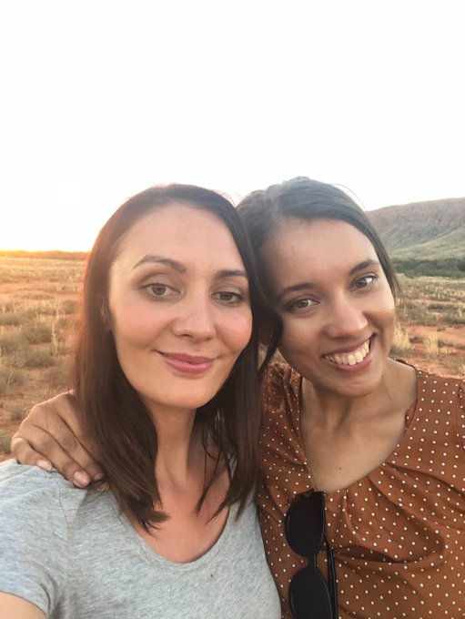 #NAIDOC2018 shout out to my amazing colleague @isabellahiggins ... important to highlight our contemporaries as well as leaders. So inspired by Bella's wisdom, positivity and empathy. Working with another Indigenous woman in our @abcnews team has been so meaningful! 🖤❤️💛 Photo