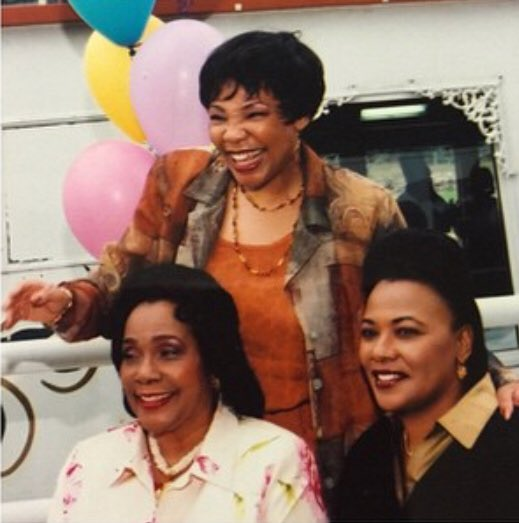 Me, my mother and my sister, Yolanda. I miss them. #ThrowbackThursday #TBT #CorettaScottKing