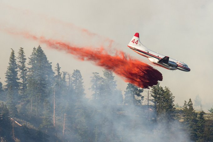 Quite the angle of attack on this one. Shot around 6 #Kamloops #BCWildfire Photo