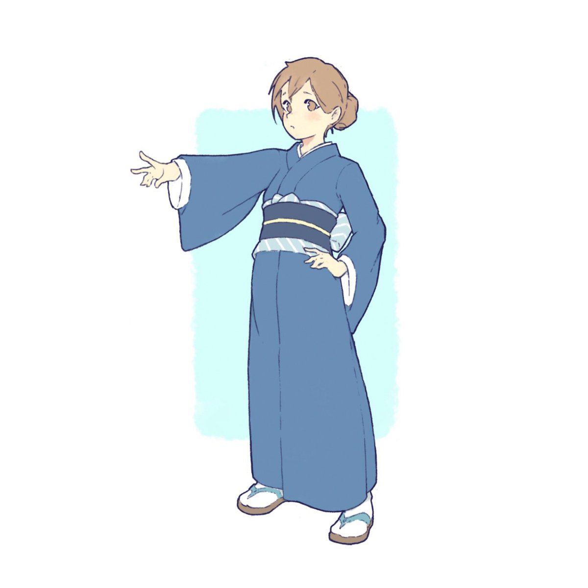Umber On Twitter Going Full Anime Drew This One In A Kimono