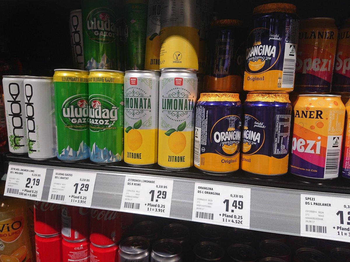 缶飲料はことごとく炭酸しかないの、なんとかなんねーかなドイツ。 炭酸好きじゃないんだよねー😂