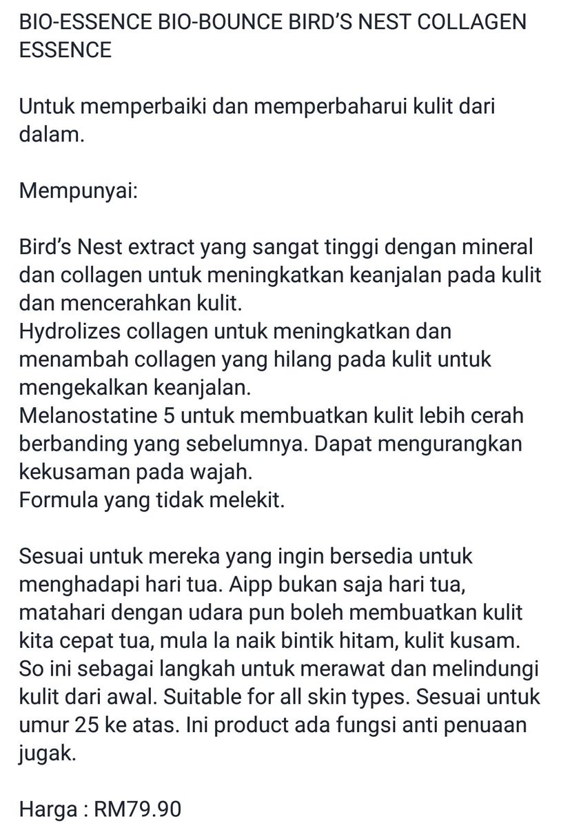 Review Bio Essence Bird Nest Untuk Jerawat