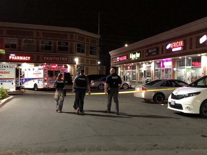 Update Call received at 11:06 pm Shooting in the plaza at 15 Brisdale Male 34 year old from Brampton was shot and succumbed to his injuries. Homicide is taking over investigation No further information at this time. PR180261751 Photo