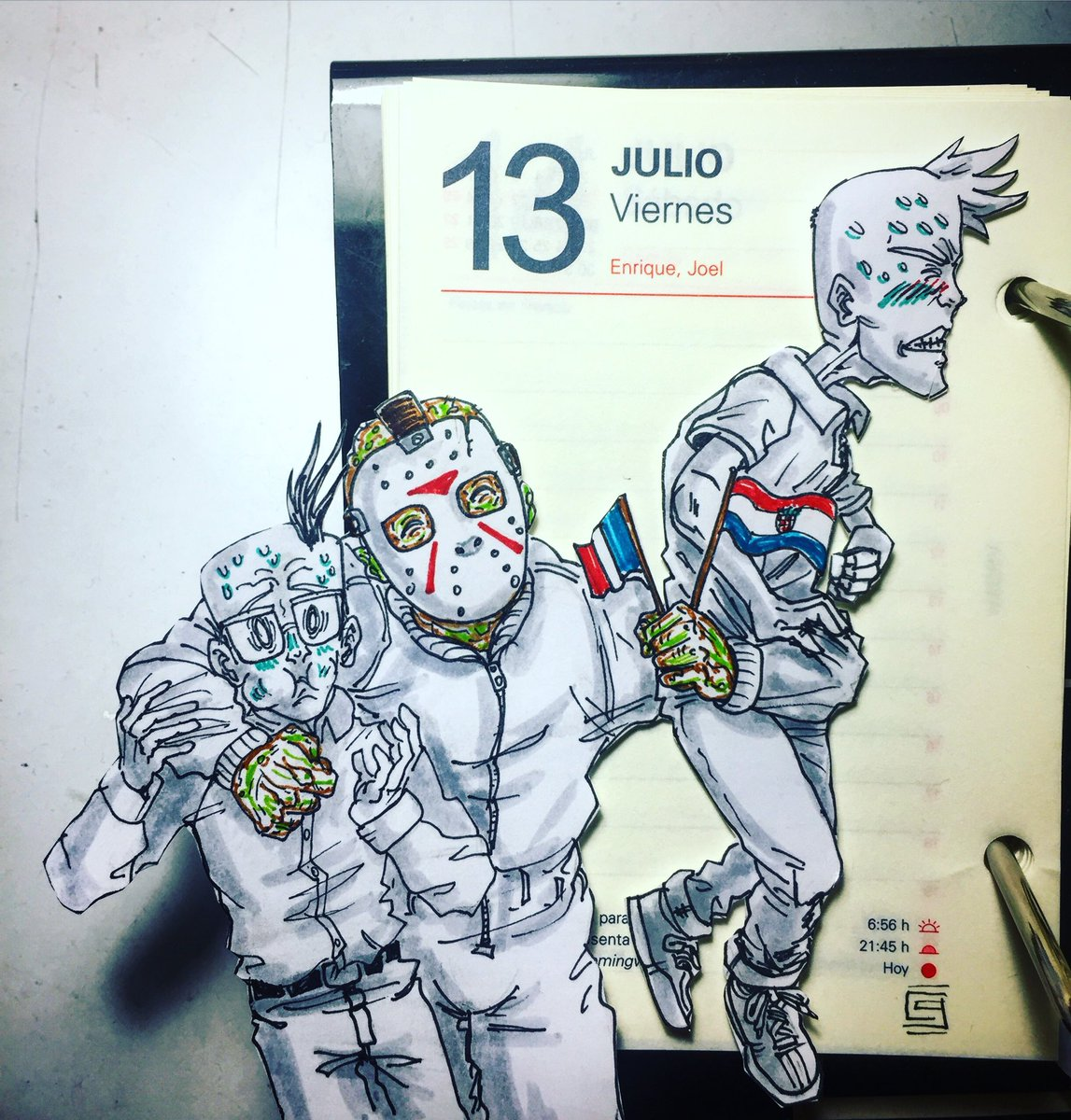 Friday the 13... who knew Jason was a soccer fan!?  #calendarcomic #officeart #soccer #futbol #football #worldcup  #worldcup2018 #russia2018 #drawing #dessin #dibujo #drawing #dailydoodle #doodleoftheday #jasonvorhees #fridaythe13th #viernes #vendredi #friday<br>http://pic.twitter.com/qrV7CHnTZz