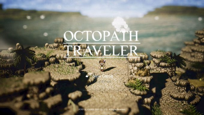 It begins!! Time to dive on in!! #OctopathTraveler #NintendoSwitch Photo