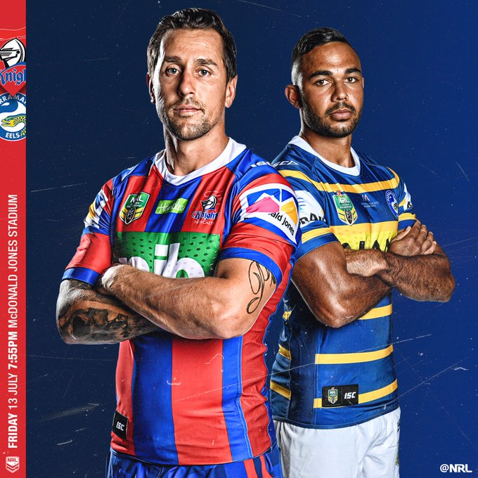 Pearce is back in red and blue! #NRLKnightsEels is on from #NRL Photo