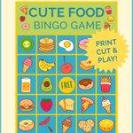 Cute Food Bingo Game Printable https://t.co/8bnnKczyIN