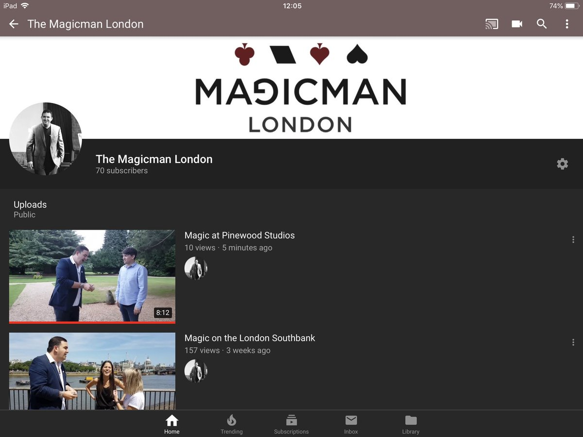 My latest YouTube video is now live  you can watch it and subscribe to my channel by visiting https://bit.ly/2lJeENg enjoy. Next episode on 18th July. #magicmanlondon @PinewoodStudios @KailyOBrien #entertainment #reactions #events @GenuineEventspic.twitter.com/dZp1erMSZj
